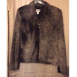 Joseph Ribkoff Shag Blazer Jacket 16 / XL
